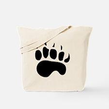 Bear Paw Silhouette Tote Bag