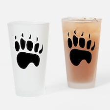 Bear Paw Silhouette Drinking Glass