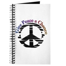 Give Peace a Chance Sign Journal