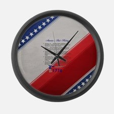ABH Timeline 1776 Large Wall Clock
