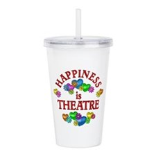 Happiness is Theatre Acrylic Double-wall Tumbler