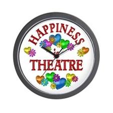 Happiness is Theatre Wall Clock