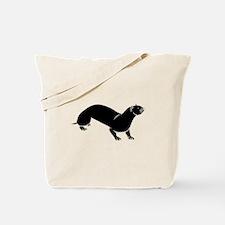 Otter Silhouette Tote Bag