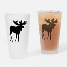 Moose Silhouette Drinking Glass