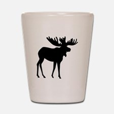 Moose Silhouette Shot Glass