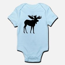Moose Silhouette Body Suit