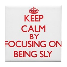 Being Sly Tile Coaster