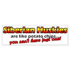 Potato Chips Siberian Husky Bumper Bumper Sticker