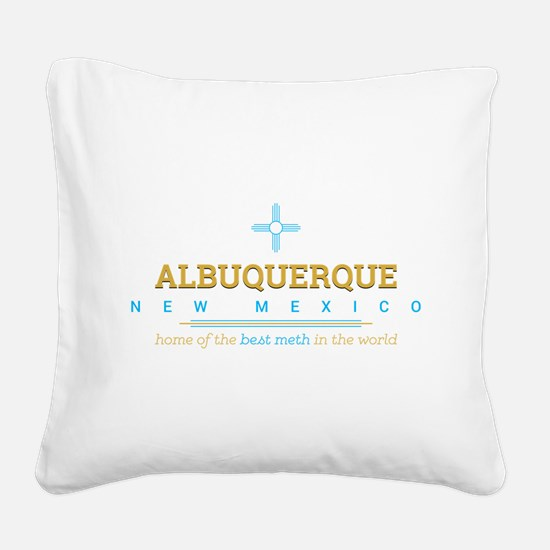 Breaking Bad Albuquerque Square Canvas Pillow