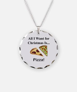 Christmas Pizza Necklace