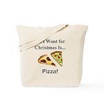 Christmas Pizza Tote Bag