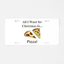 Christmas Pizza Aluminum License Plate