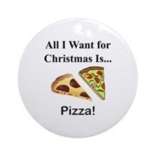 Christmas Pizza Ornament (Round)