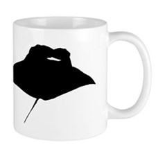 Manta Ray Silhouette Mugs