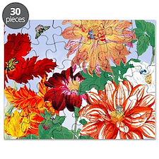 Dazzlin' Tulips, Dahlias, B'flies Puzzle