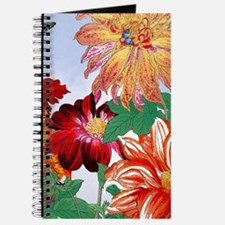 Dazzlin' Tulips, Dahlias, B'flies Journal