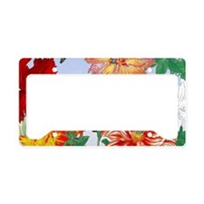 Dazzlin' Tulips, Dahlias, B'f License Plate Holder