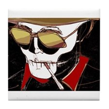 Cute Thompson skull Tile Coaster