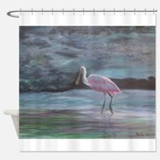 THE REAL FLORIDA-Roseate Spoonbill Shower Curtain