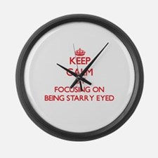 Being Starry-Eyed Large Wall Clock