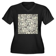 Collage of Currency Plus Size T-Shirt