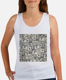 Collage of Currency Tank Top