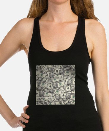 Collage of Currency Racerback Tank Top