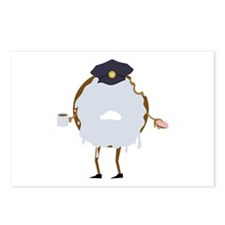 Cop Donut Postcards (Package of 8)