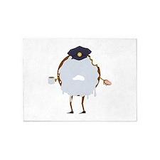 Cop Donut 5'x7'Area Rug