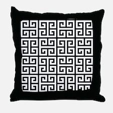 Classy Greek Key black Throw Pillow
