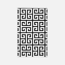 Classy Greek Key black 3'x5' Area Rug