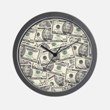 Collage of Currency Wall Clock