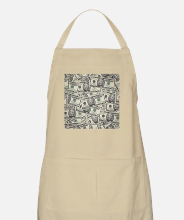 Collage of Currency Apron