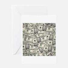 Collage of Currency Greeting Cards