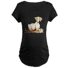 Cream Saluki Lester Maternity T-Shirt