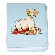 Cream Saluki Lester baby blanket