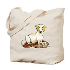 Cream Saluki Lester Tote Bag