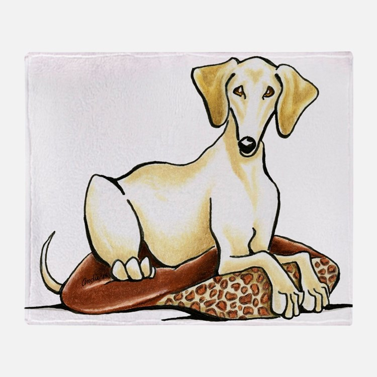Cream Saluki Lester Throw Blanket