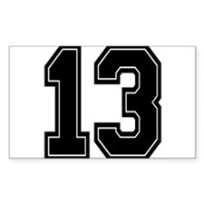 Cute Number 13 Decal