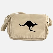Kangaroo Silhouette Messenger Bag