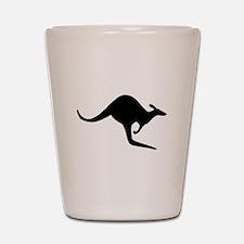 Kangaroo Silhouette Shot Glass