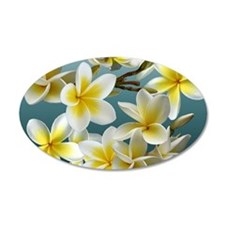 Plumeria on Blue Wall Decal