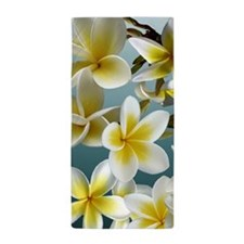 Plumeria on Blue Beach Towel