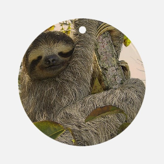 Sloth Ornament (Round)