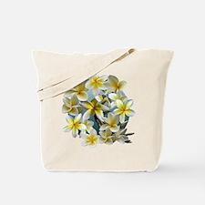 Plumeria on Blue Tote Bag