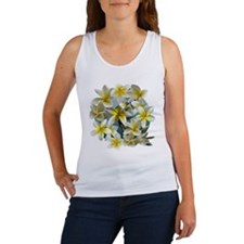 Plumeria on Blue Tank Top
