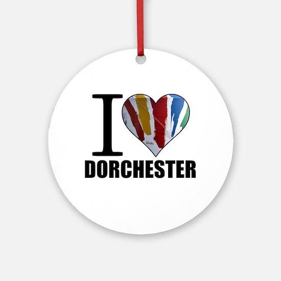 I Love Dorchester Ornament (Round)