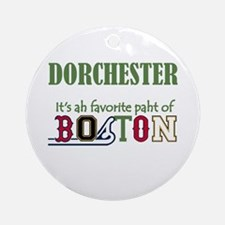 Ah favorite paht of Boston Ornament (Round)