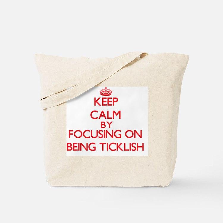 Being Ticklish Tote Bag