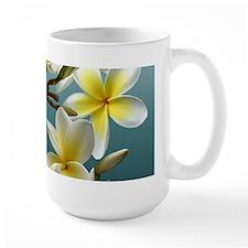 Plumeria on Blue Mugs